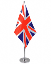 DELUXE CHROME & SATIN TABLE FLAGS £10